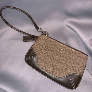 Signature Jacquard & Leather Khaki/Mahogany
